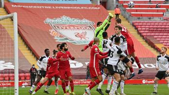 A Liverpool a Fulhamtől is kikapott hazai pályán