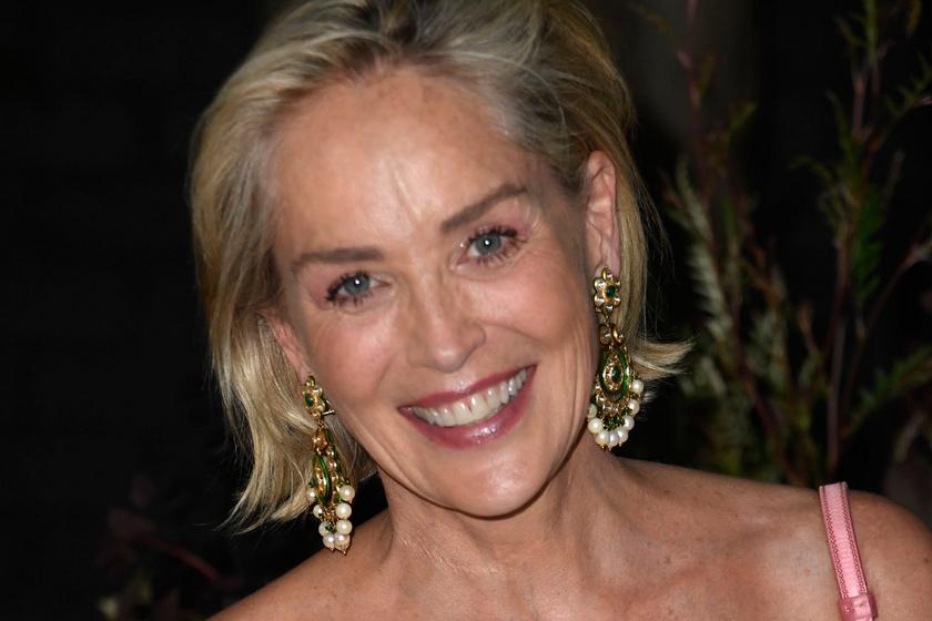 A 63 éves Sharon Stone hasvillantós felsőben pózolt: egy divatcég kedvéért vállalta be a fotót