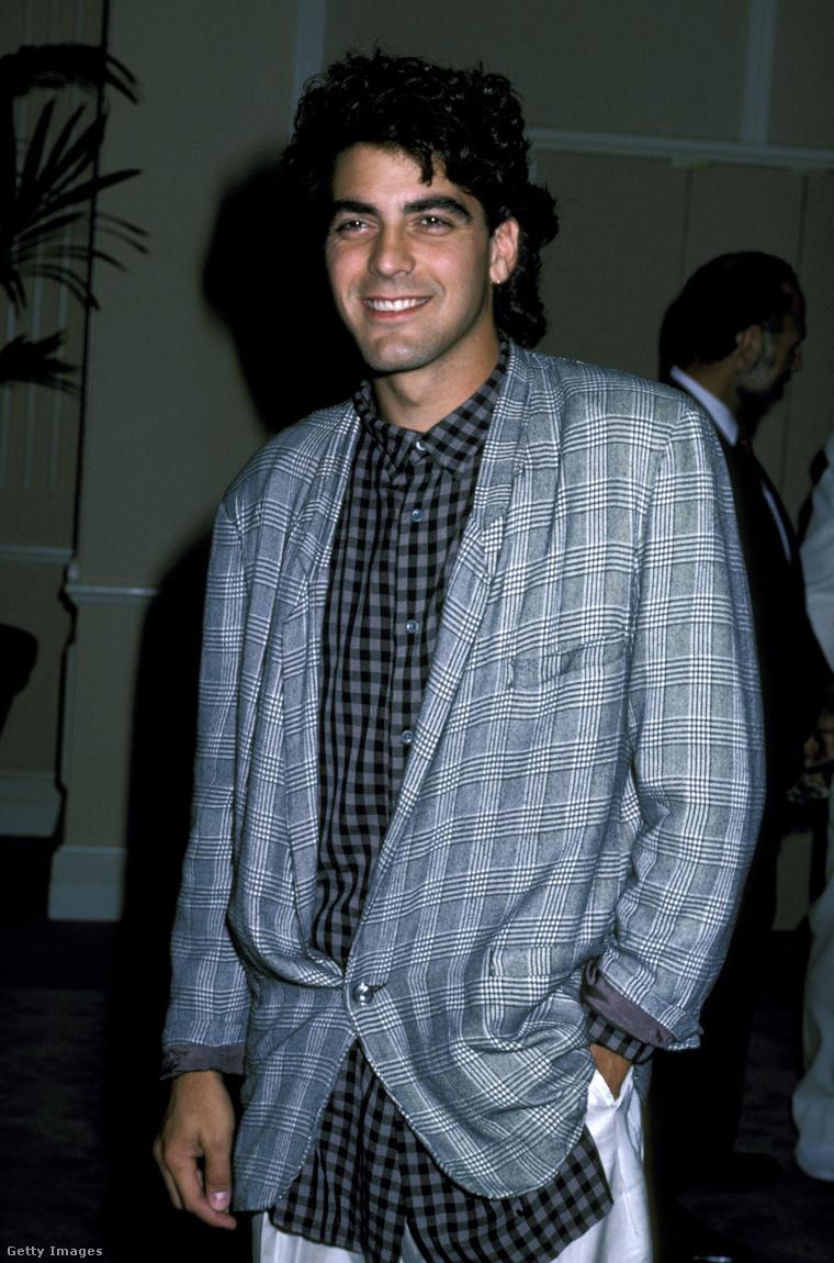 George Clooney az Amnesty International 25 éves fennállását ünneplő rendezvényen, 1986-ban, 25 évesen.