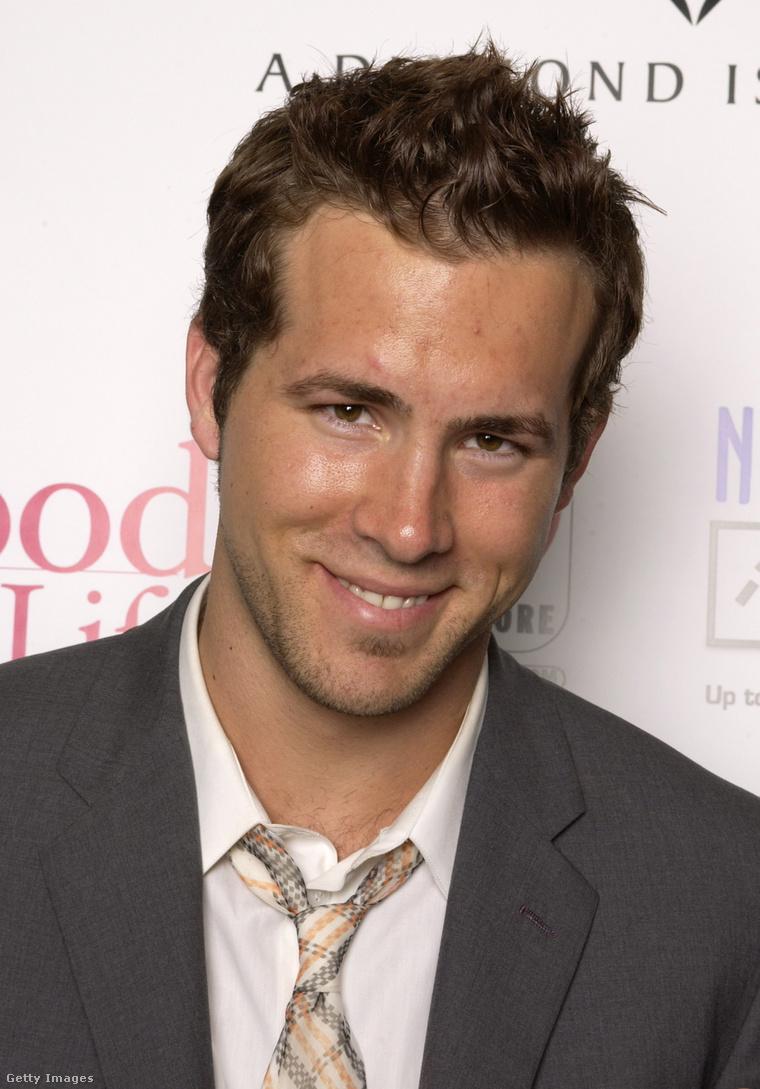 Ryan Reynolds egy fiatal színészeket díjazó eseményen 2003-ban, 27 évesen.