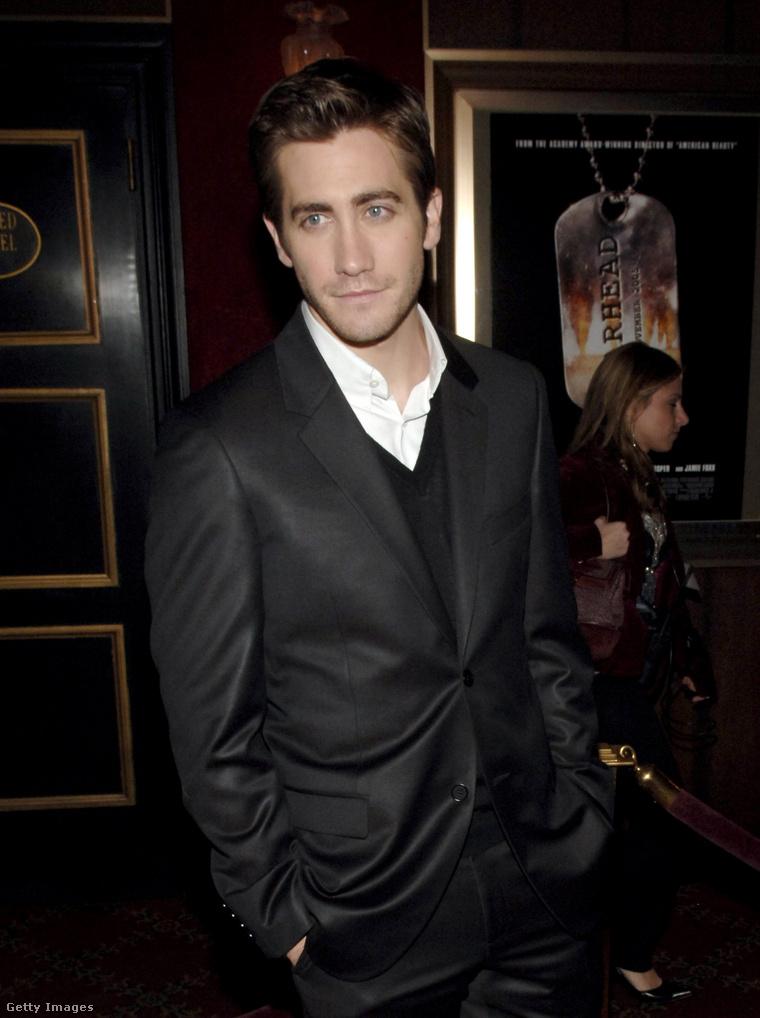 Jake Gyllenhaal a Jarhead New York-i premierjén, 2005-ben, 23 évesen.