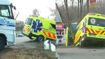 Összetört az új mentőautó a török kamion miatt