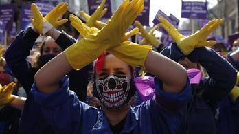 A női egyenjogúságért tüntettek Pakisztánban