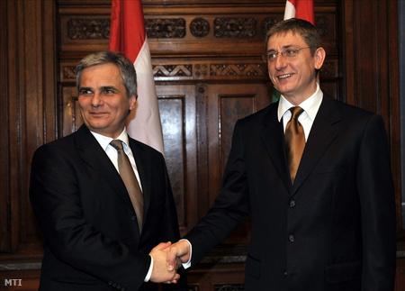 Werner Faymann osztrák kancellár Budapesten