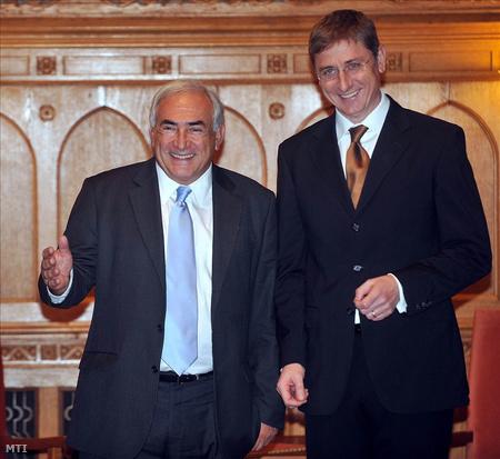 Gyurcsány Dominique Strauss-Kahnnal, az IMF igazgatójával