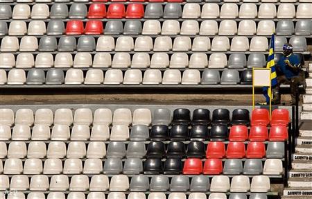 Kihaklt stadion egy mexikói futballmérkőzésen