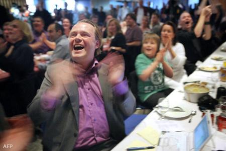 Rick Falkvinge pártelnök a választásokkor