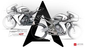 Csodálatos idomszettet álmodtak a Triumph Trident 660-hoz