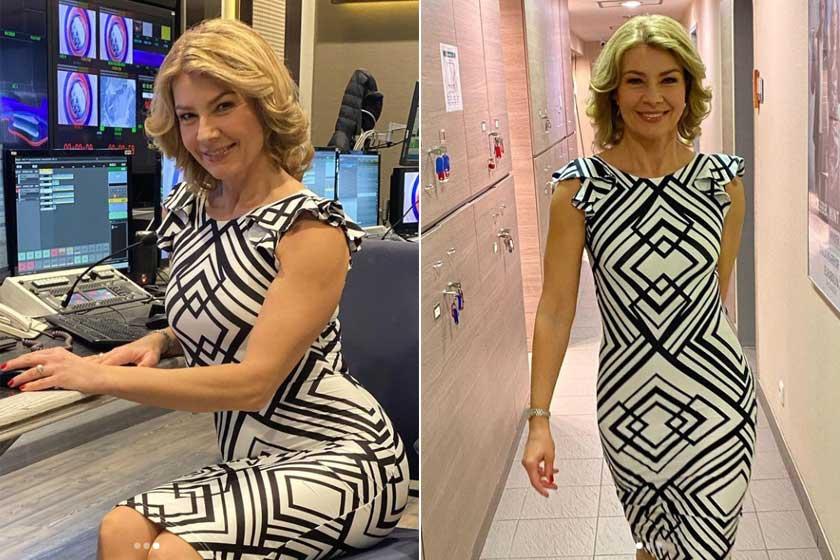 Az 51 éves Barta Sylvia minden egyes képéről süt a magabiztosság. Hibátlan alakján remekül mutatnak a testhezálló miniruhák.