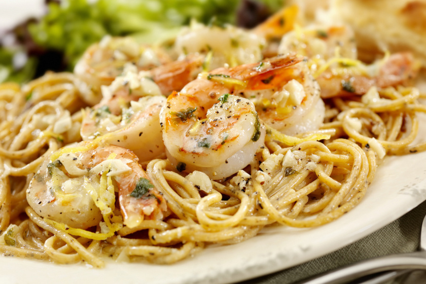 garnélarákos spagetti