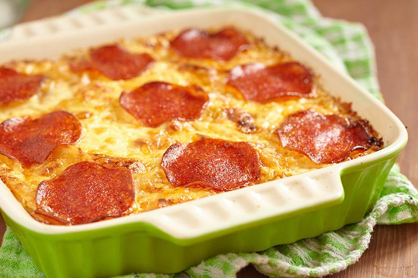 sajtos rakott tészta
