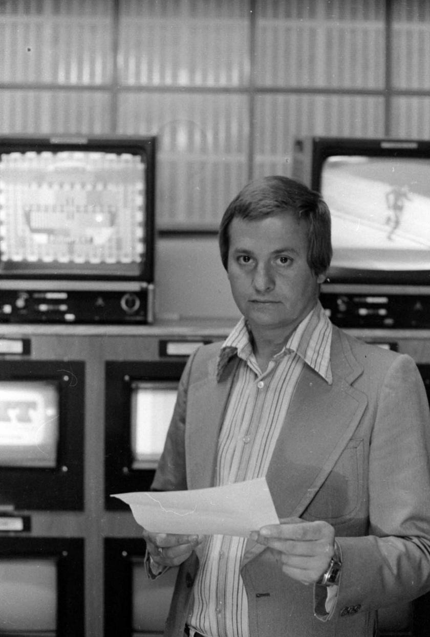 Kovács P. József 1979-ben a Magyar Rádió stúdiójában.