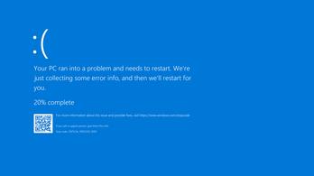 Kék halált okozhat a legutóbbi Windows-frissítés