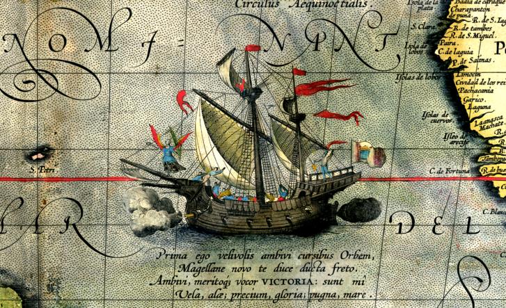 Victoria, az egyetlen hajó Magellán flottájából, amely teljesítette az utat