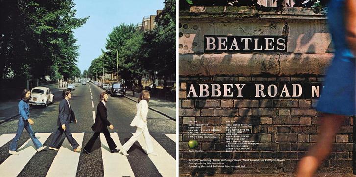 A Beatles Abbey Road lemezének borítója