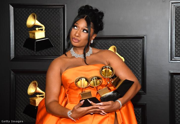 Megan Thee Stallion a Grammy-gálán 2021. március 14-én