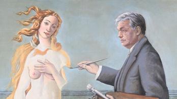Orbán Viktor megfestette Botticelli Vénuszát Magritte műtermében