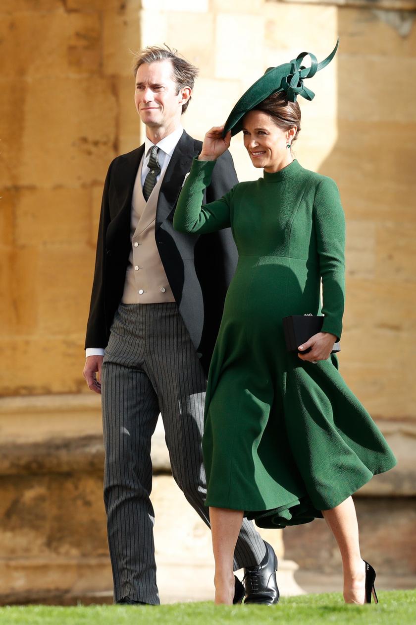 Ez a fotó 2018-ban készült Pippa Middletonról és férjéről, amikor az előkelőség kisfiukat hordta a szíve alatt.