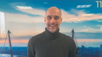 Pep Guardiola videoüzenetet küldött a Vasasnak