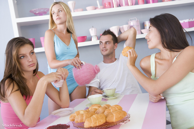 stockfresh 85528 group-of-friends-enjoying-sexy-breakfast sizeM