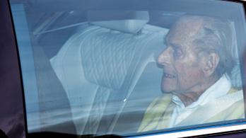 A 99 éves Fülöp herceg elhagyta a kórházat