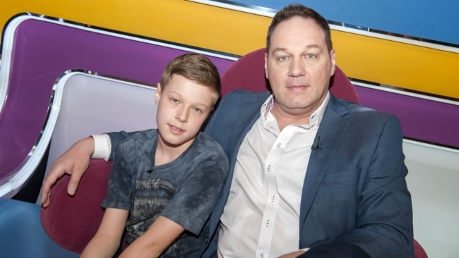 Pachmann Pétert a fiával, Balázzsal 2017 tavaszán láthattuk a TV2 Vigyázat, gyerekkel vagyok! című szórakoztató vetélkedőjében.
