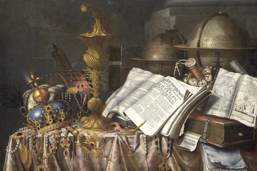 Edwaert Collier: Vanitas csendélet, 1662.