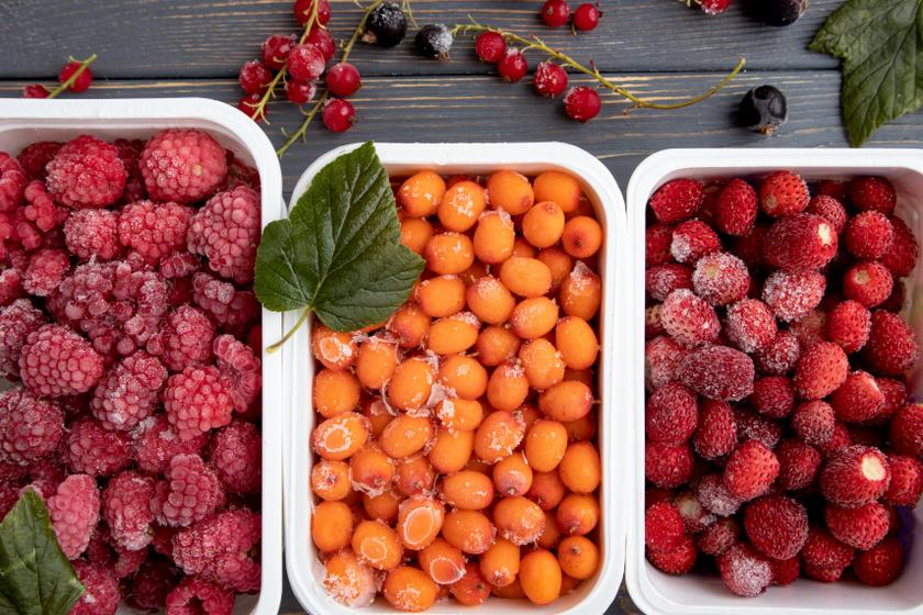 fagyasztott gyümölcsök belső