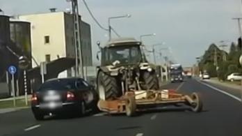Előzött volna, de a tiszafüredi traktor erősebb volt