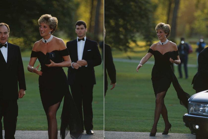 Egykori stylistja, Anna Harvey elárulta, Diana azt mondta neki, úgy szeretne kinézni, mint egymillió dollár, ezért esett a választása a mély kivágású, vállra húzott selyemminire.