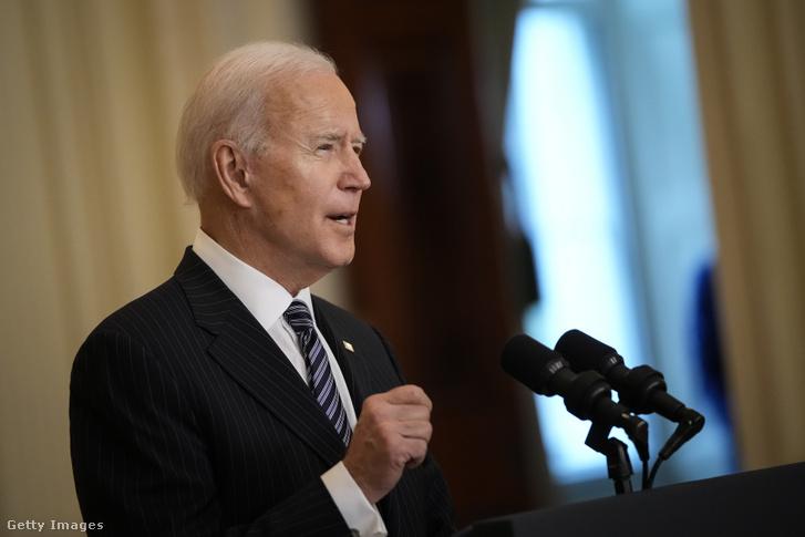 Joe Biden sajtótájékoztatót tart a Fehér Házban 2021. március 18-án