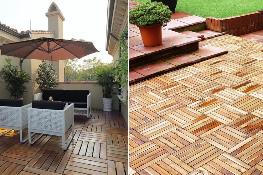 Dizájnos, mégis természetes hatású a fa padlóburkolat. A sávos egységek együttese különleges mintázatot alkot.