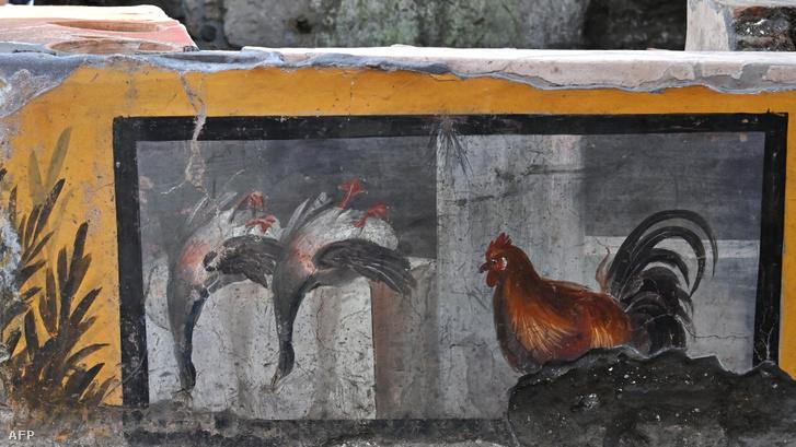 A faloda falairól származó freskók 2021. január 25-én