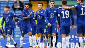 Magabiztosan jutott az FA-kupa elődöntőjébe a Chelsea