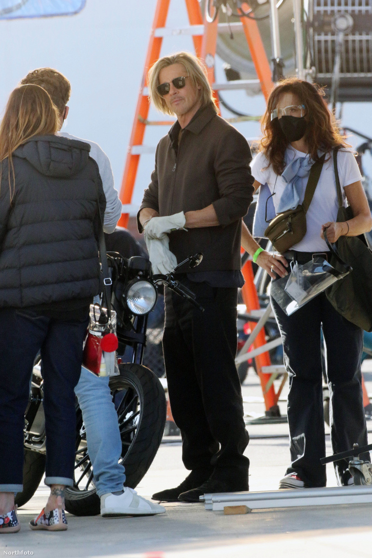 Brad Pitt reklámfilmet forgat Los Angelesben, március 18-án
