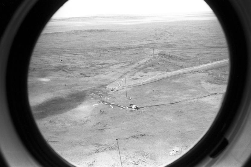 1988-as légi felvétel a Szemipalatyinszki kísérleti telepről.