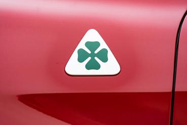 Ez itt maga őszentsége, a Quadrifoglio Verde, azaz a zöld négylevelű lóhere