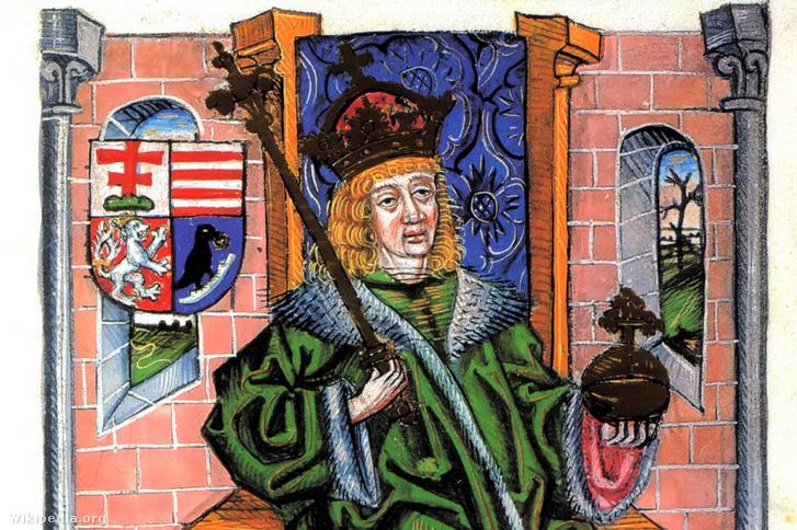 Mátyás ábrázolása a korabeli Chronica Hungarorum egyik kiadásában