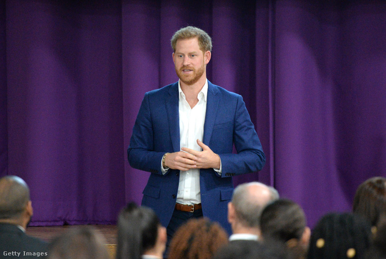 Harry herceg 2019 októberében, a lelki egészség világnapján