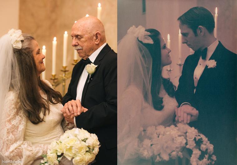 A menyasszony pedig mosolygósabb, mint annak idején.