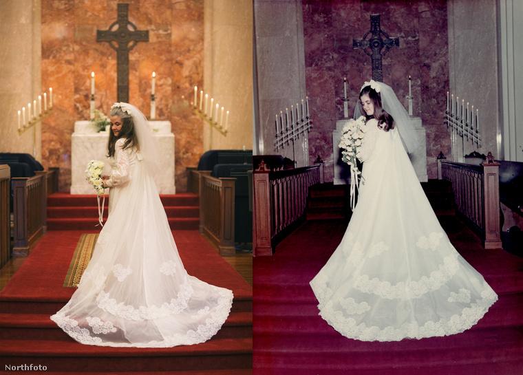Menyasszony az oltárnál.
