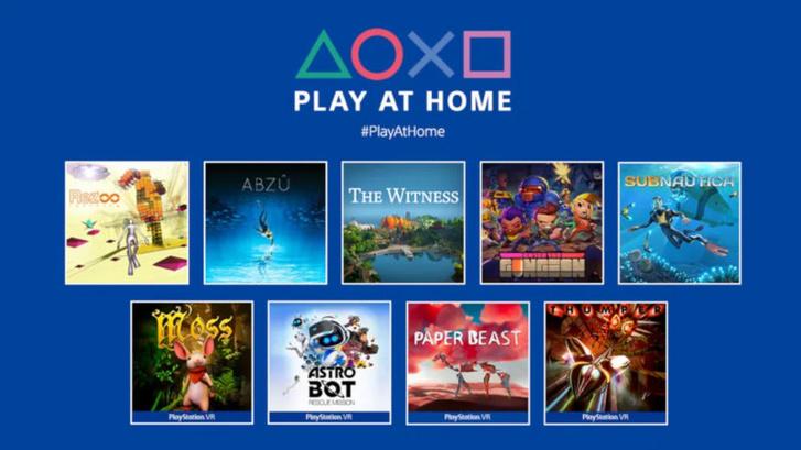 Március 15-ei Play at Home-címek (Forrás: Sony)