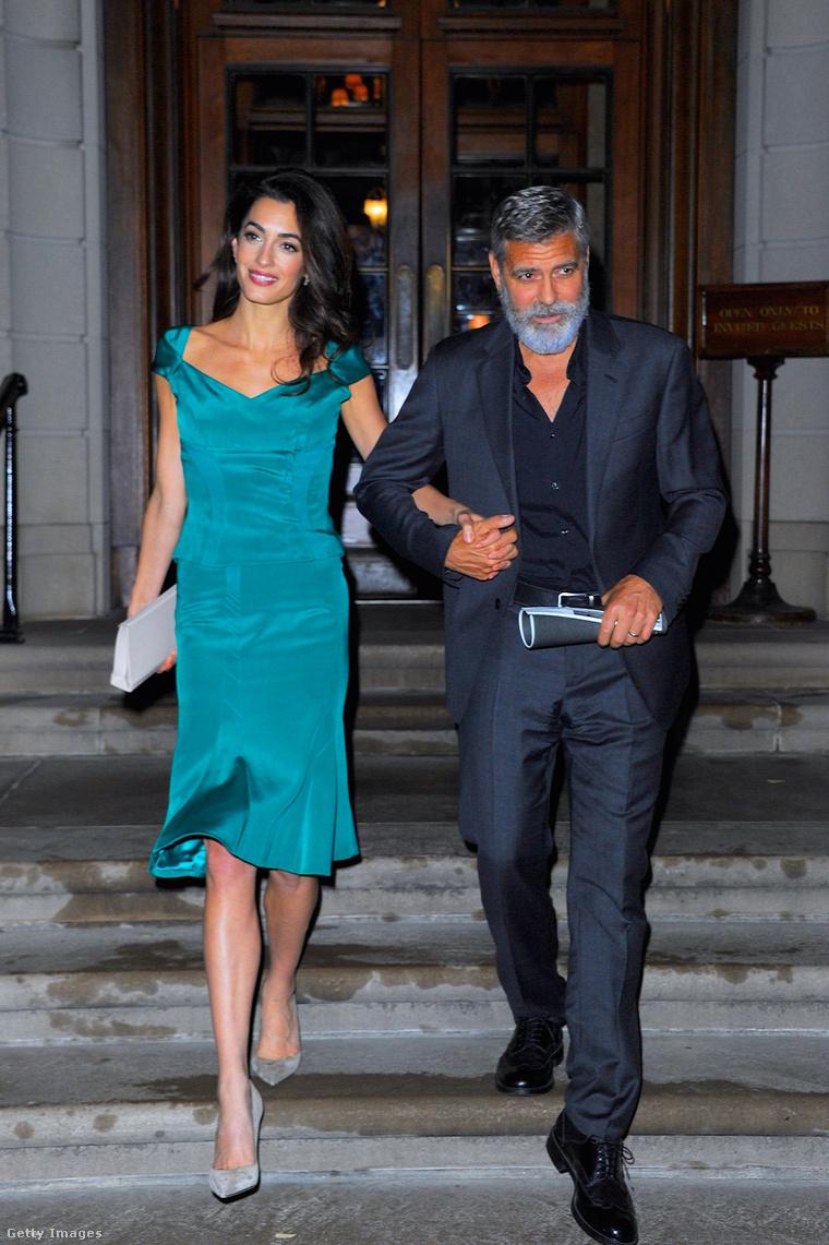 Amal és George Clooney 2019-ben, New Yorkban