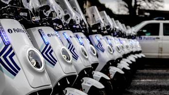 Elektromos robogókat állított szolgálatba a brüsszeli rendőrség