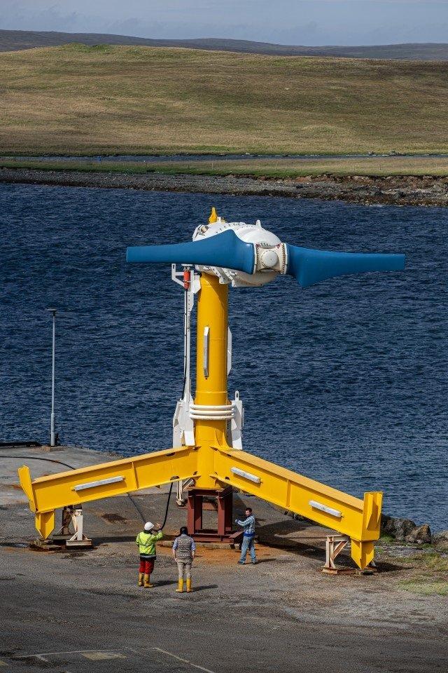 Így néz ki egy árapály-turbina. Forrás: Nova Innovation