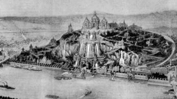 Ezer méter magas piramist terveztek a Gellért-hegy helyére