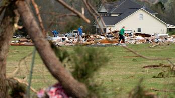 Tornádók pusztítanak az Egyesült Államok déli részén
