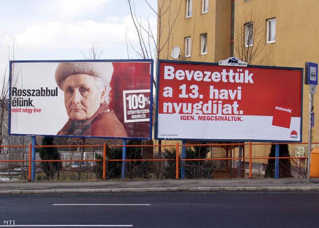 A 2006-os kampányban találkozhattunk már 13. havi nyugdíj bűvös szlogenjével