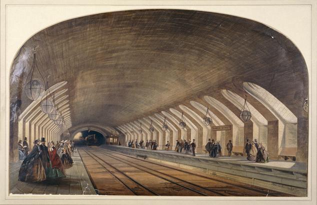 A Baker Street-i megálló két évvel megnyitása után, 1865-ben