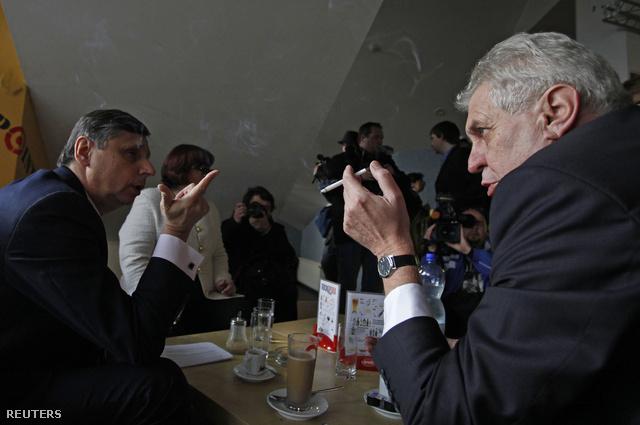 Jan Fischer és Milos Zeman